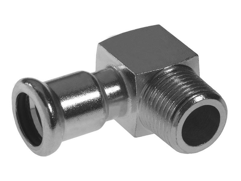 Отвод с наружной резьбой press - короткий