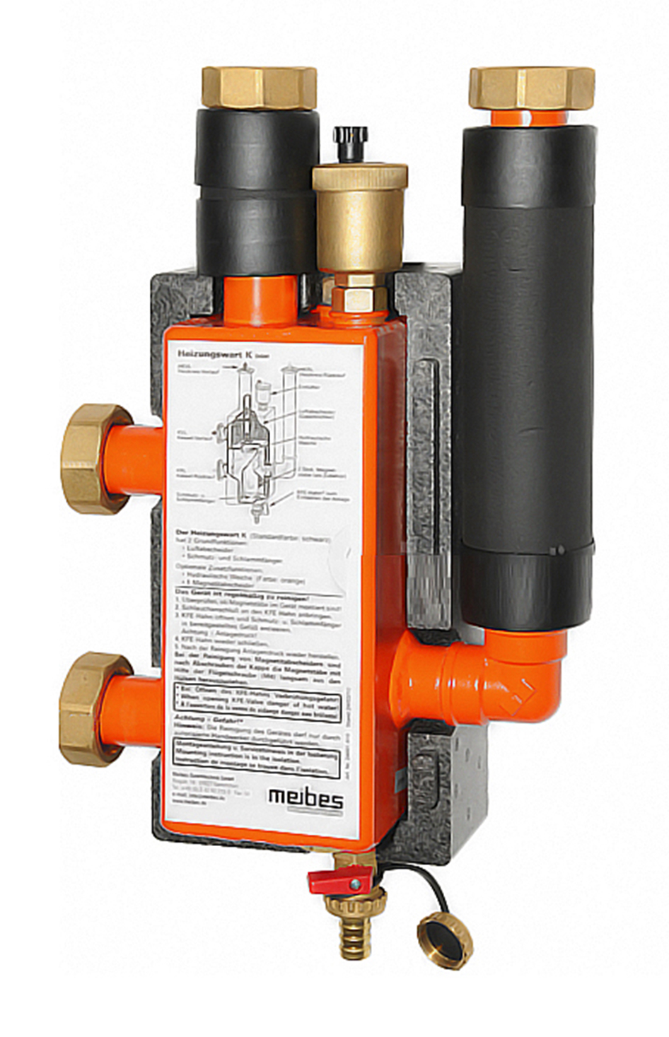 Гидравлическая стрелка Meibes для систем отопления до 85 кВт