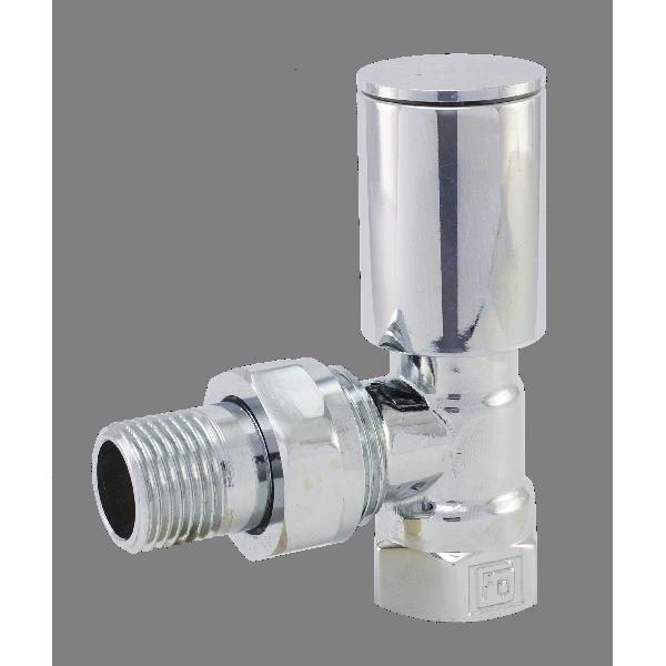 RC01 Кран радиаторный угловой верхний