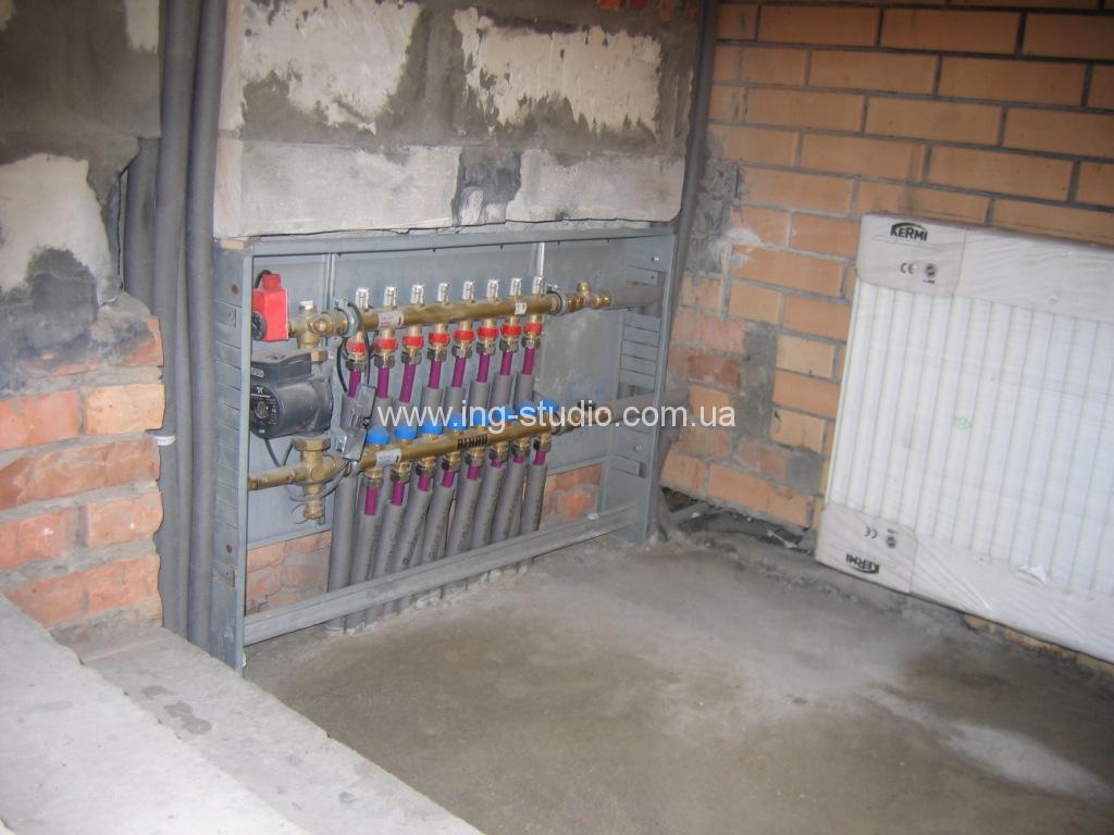 Монтаж та послуги з обслуговування водяної теплої підлоги
